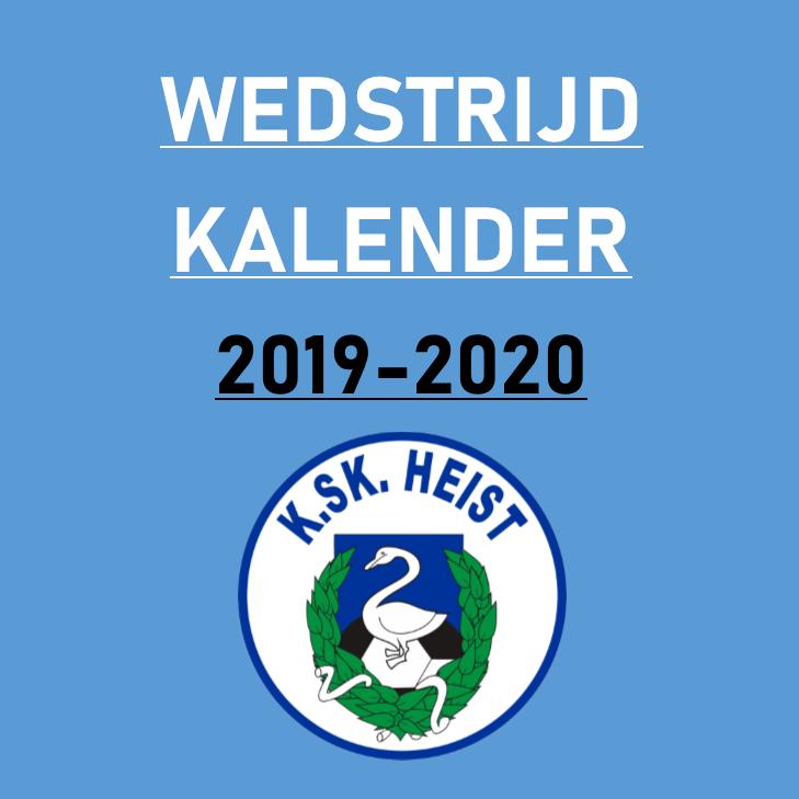 Wedstrijdkalender 1ste elftal 2019-2020