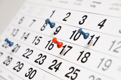 kalender seizoen 2020-2021