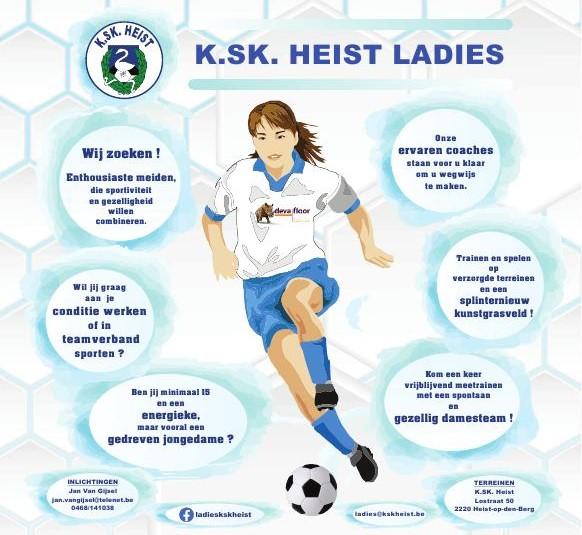 KSK Heist Ladies op zoek naar speelsters.